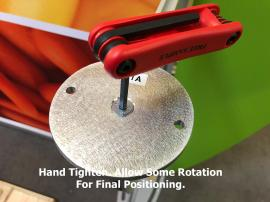 Tighten. Allow Some Rotation for Final Positioning.