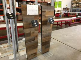 Custom Door Panel and iPad Stands with Stikwood Finis