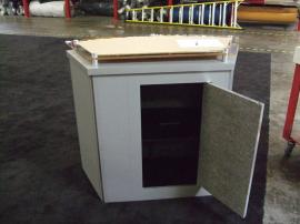 LTK-1011 Pedestal with Raised Plex Countertop and Locking Storage