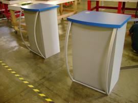 MOD-1121 Pedestals (missing the tension fabric facade)