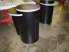 (2) LTK-1015 Pedestals with Locking Storage