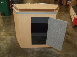 LTK-1011 Modular Counter with Locking Storage and Raised Plex Counter Top -- Image 2