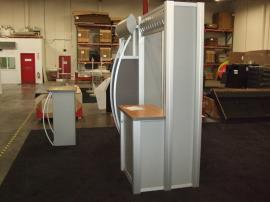 Visionary Designs VK-1029 Hybrid Exhibit with MOD-1121 Pedestal (shown without graphics) -- Image 2