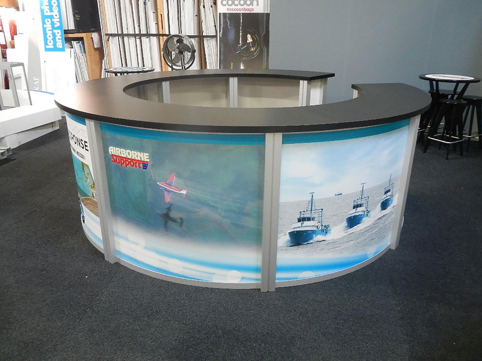 Exhibit Design Search - RE-1226 / Circular Counter (Rental ...