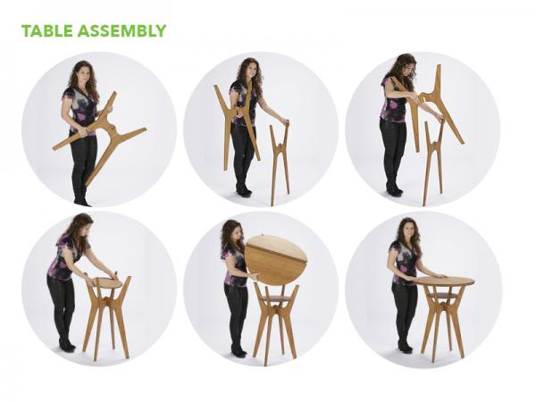 OTM Portable Table and Chairs -- Table Assembly