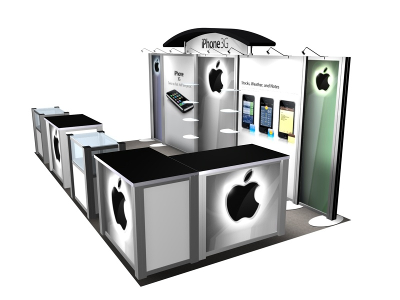 Exhibition Booth Accessories : Exhibit design search re iphone rental inline