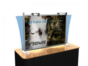 VK-1290 Portable Hybrid Trade Show Table Top Exhibit -- Image 1