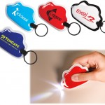 Squeezable LED Key Chain