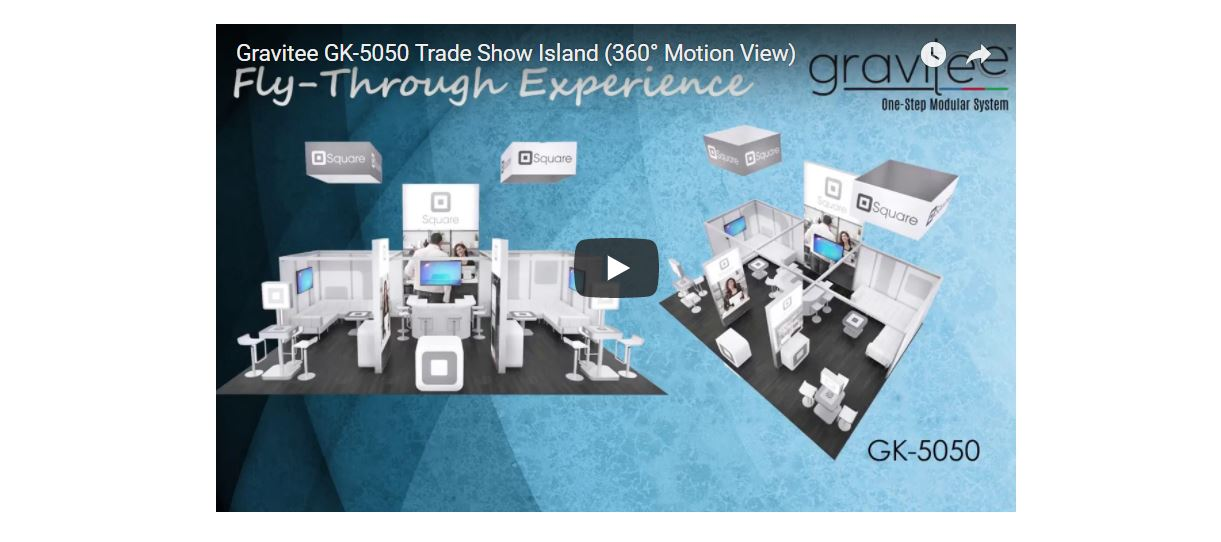 Gravitee Trade Show Island Exhibit