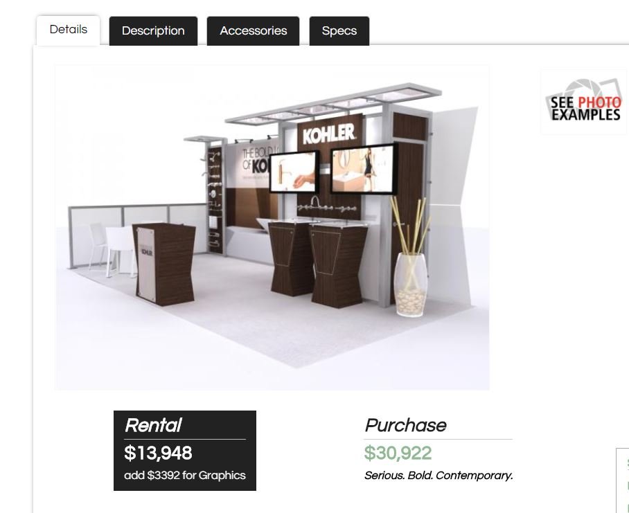 Exhibit Design Search -- Rental Feature