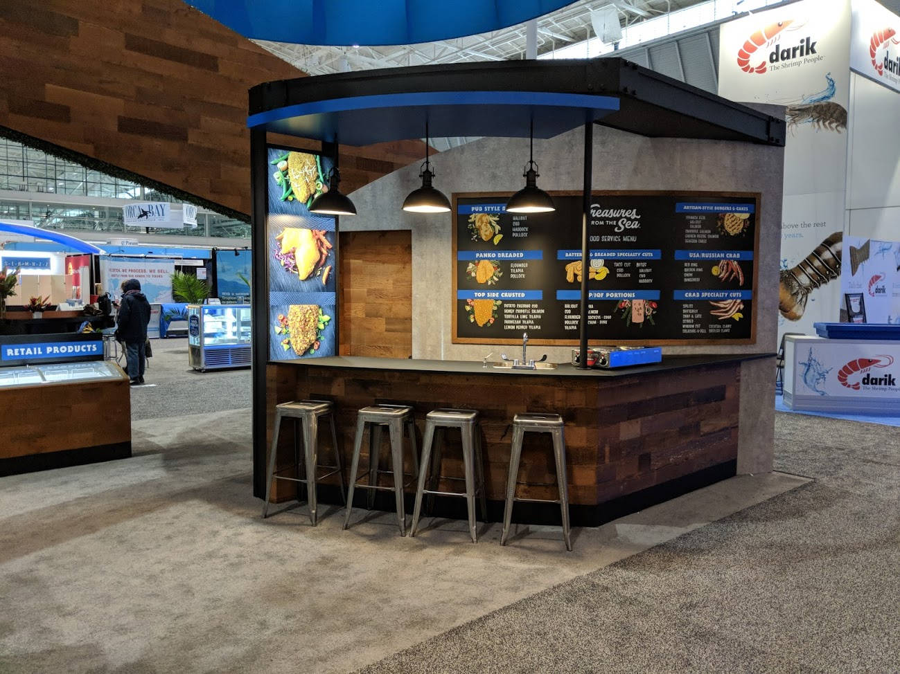 Custom Exhibit for Odyssey Foods. Design by Exhibits Northwest. Build by Classic Exhibits Inc.