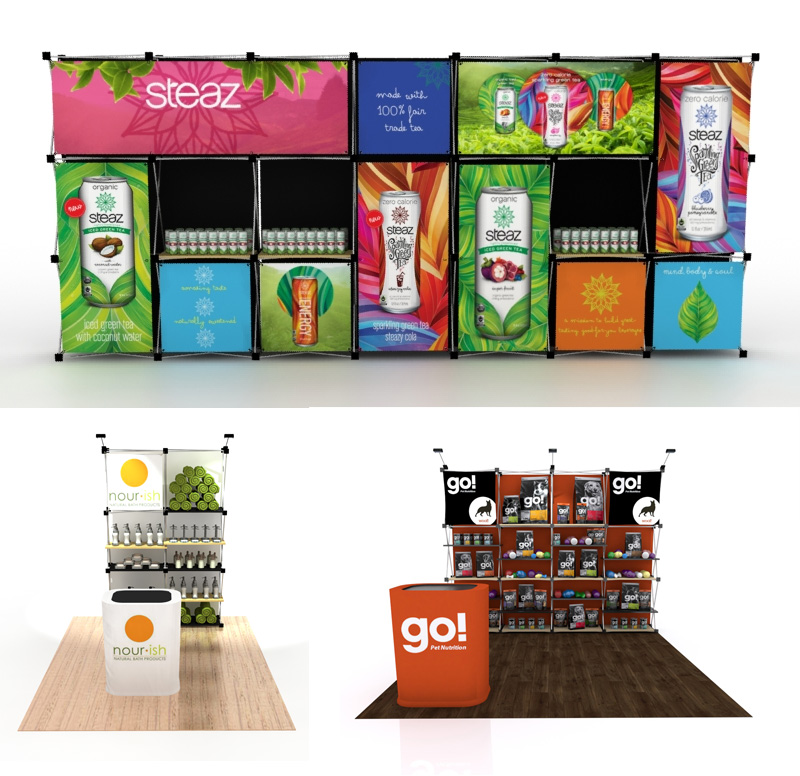 Floating Graphic Pop Up Display