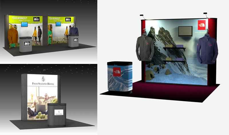 Quadro Pop Up Displays Made in the USA