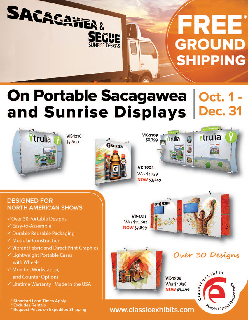 Sunrise and Sacagawea Portable Displays