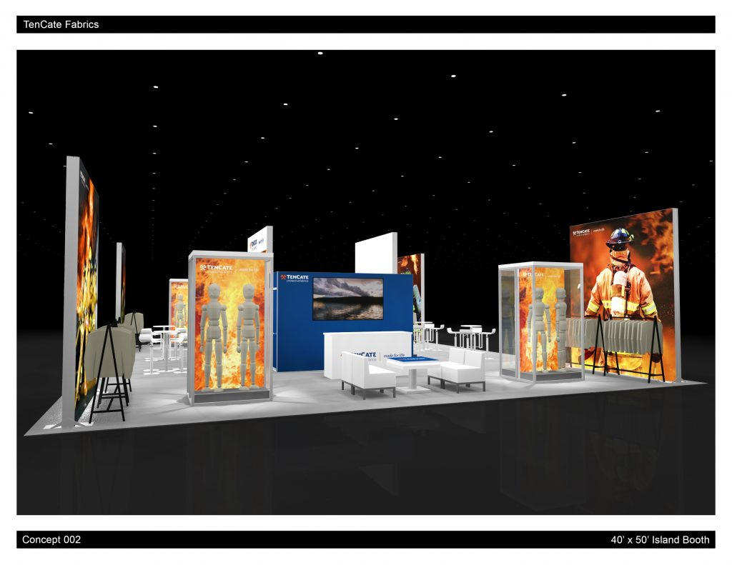 Trade Show Island Rental Exhibit