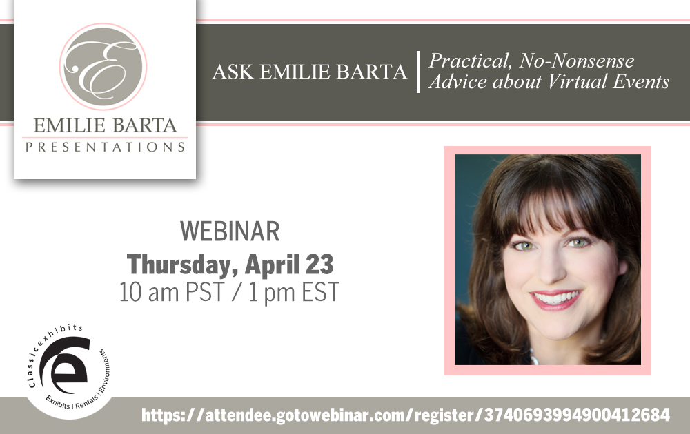 Emilie Barta answers questions about virtual events