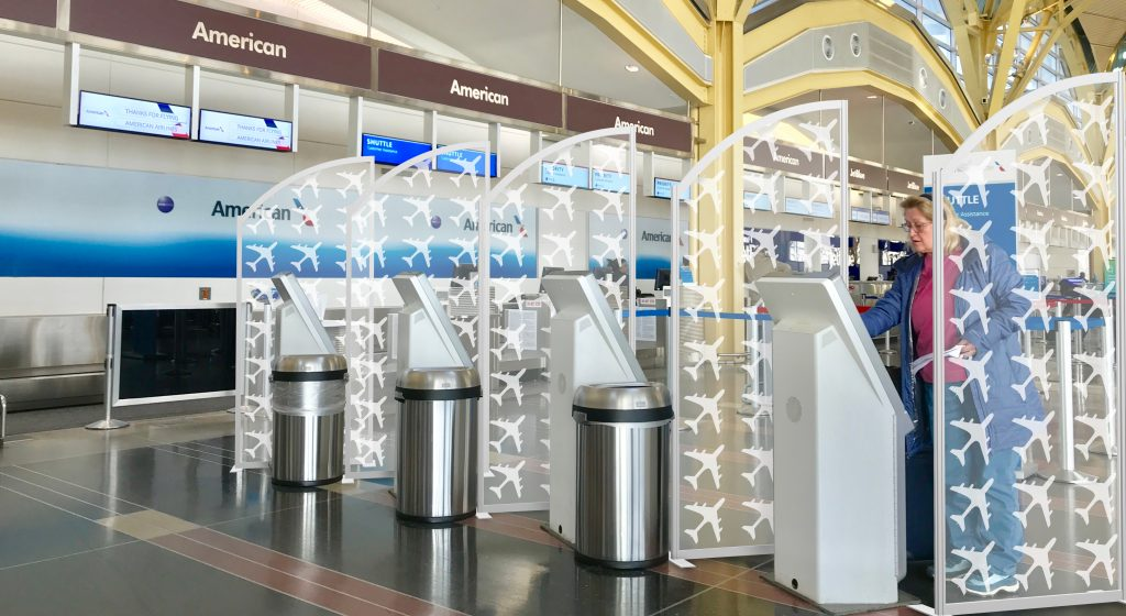 Airport with Safety Dividers