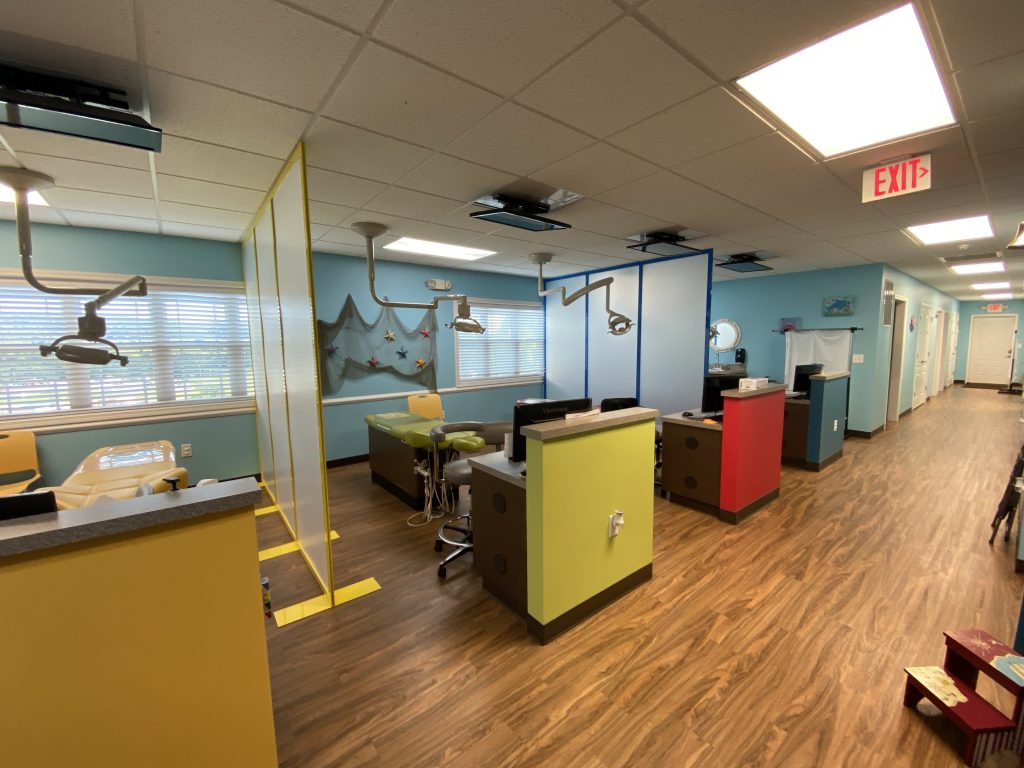 Pediatric Dental Office with Colorful Safety Dividers