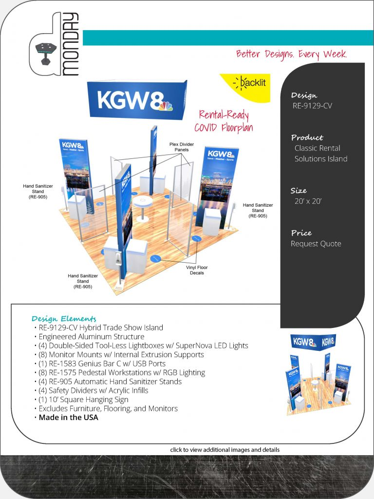 Trade Show Rental Islands with Post-COVID Protection Features
