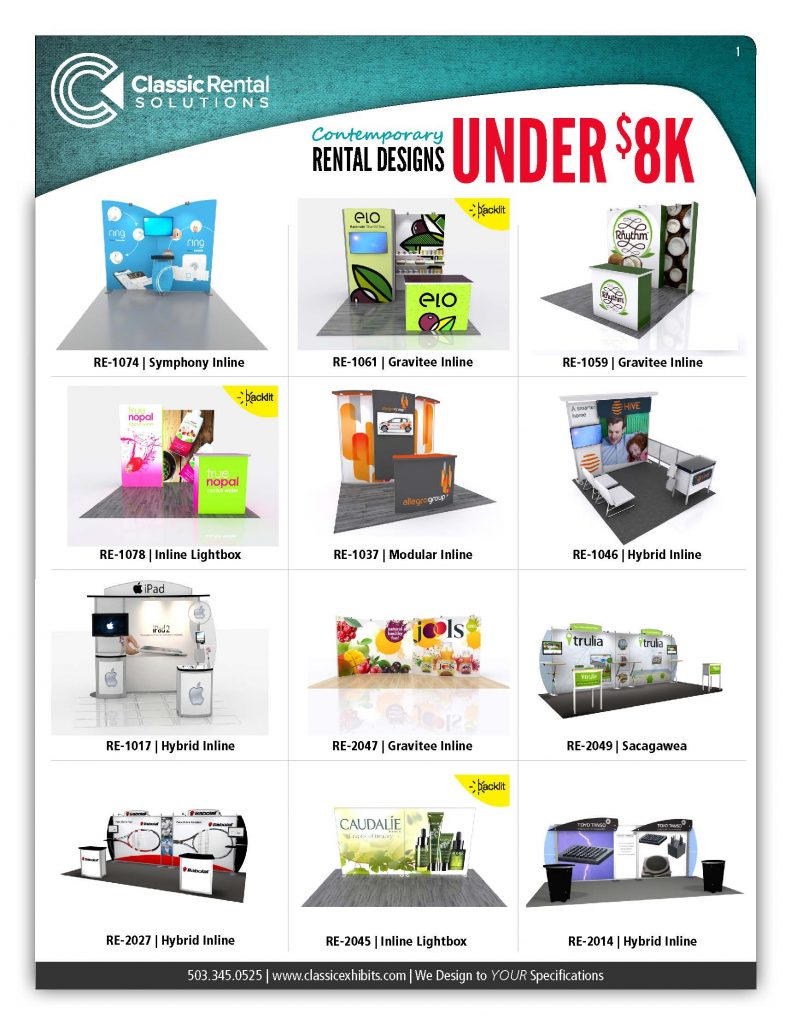 Rental exhibits for trade shows and exhibitions