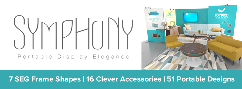 Symphony Portable Display Elegance