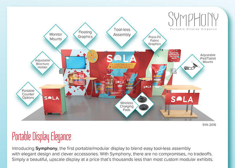 Symphony Portable Display Elegance -- Features and Benefits