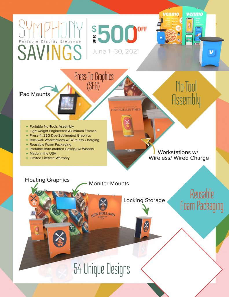 Symphony Portable Display Savings