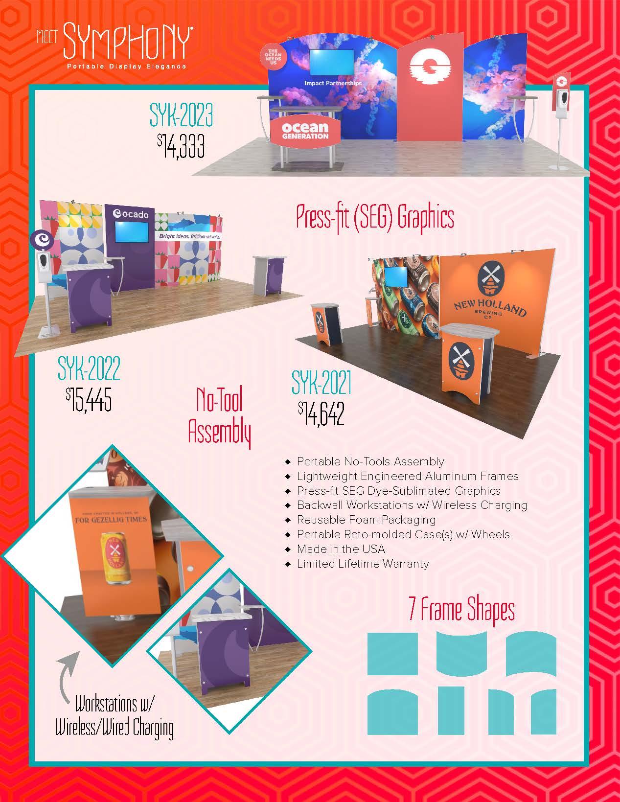 Symphony Portable Trade Show Displays